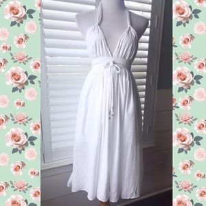 Anthropologie Lapis Beautiful White Halter Dress